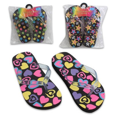 Comfort High Wedge Flip Flops - Assorted