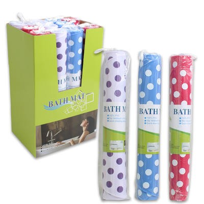 Polka Dot Bath Mat in Display Box - Assorted  27