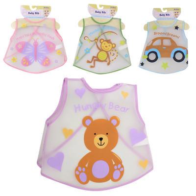 Little Mimos Plastic Baby Bib - Asst  12.5