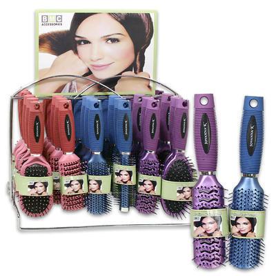 Plastic Hair Brush 36-piece w/Display - Assorted