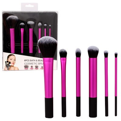 Purple Cosmetic Brush 6-piece Set