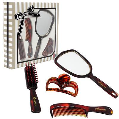 Brown 4-piece Mirror Set