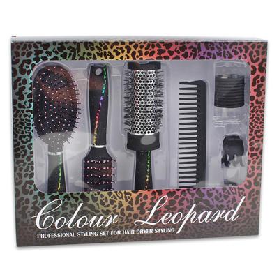 Leopard Style Hair Brush Set