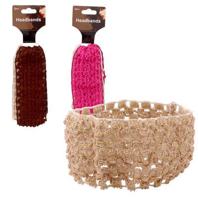 Elastic Headband 2-pack - Asst  2.5