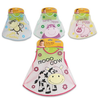 Little Mimos Baby Bib with Animal Print - Asst