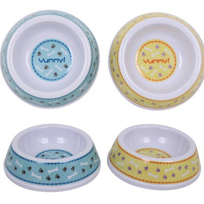 Plastic Pet Dish - Asst  5.5
