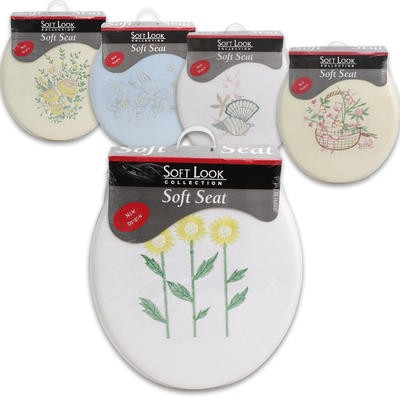 Soft Look Embossed Toilet Seat Assorted