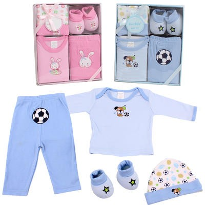 Bunchkin 4-piece Baby Gift Set - Asst