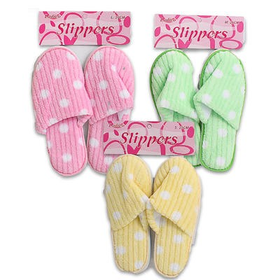 Slippers with Polka Dots - Assorted