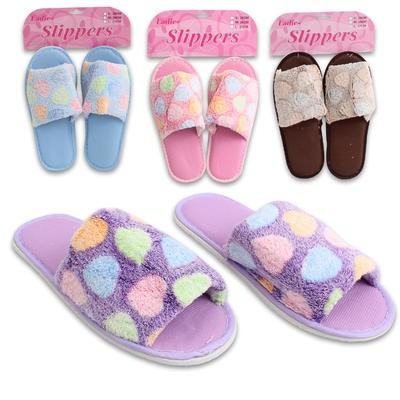 Ladies' Polka Dot Slippers - 4 Assorted