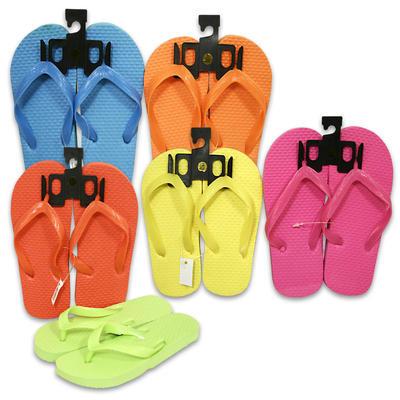Ladies Flip Flop Sandals - Astd. Colors/Sizes