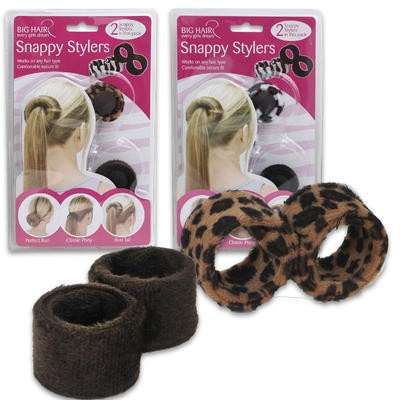Snappy Stylers Band Ponytail Holder 2-pack - Asst