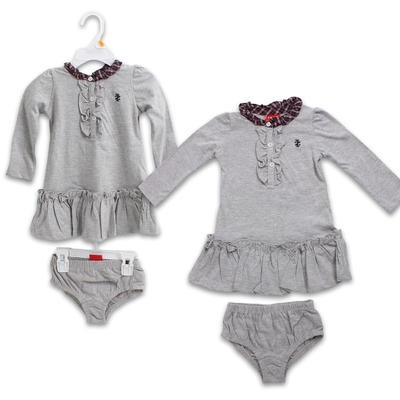 Izod Girl's Dress with Diaper Underwear