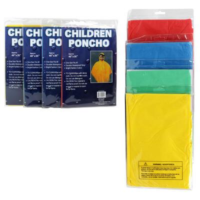 Children's Poncho - Asst  41