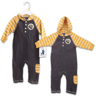 Rugged Bear Boys' Hooded Coverall - Assorted Sizes