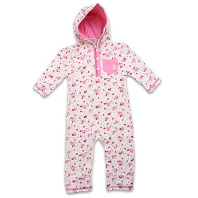Rugged Bear Floral Hooded Coverall - Assorted