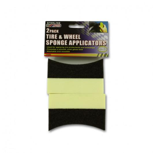 Tire and wheel sponge applicators