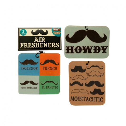 Chocolate Scented Mustache Air Freshener