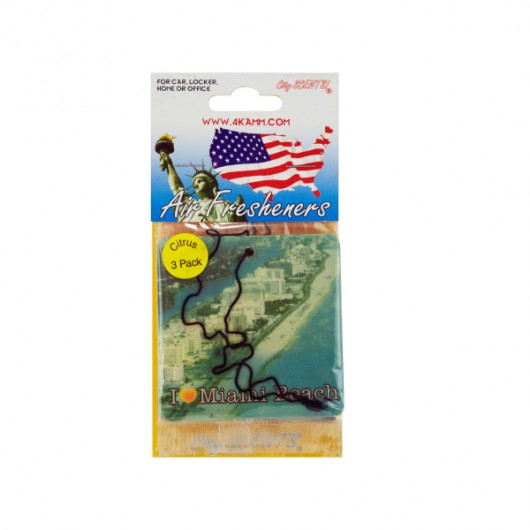 Miami Air Fresheners, Pack Of 3