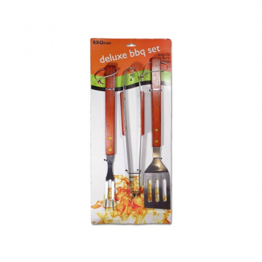 Deluxe barbecue utensil set