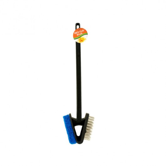 Barbecue Grill Brush with Scour Pad