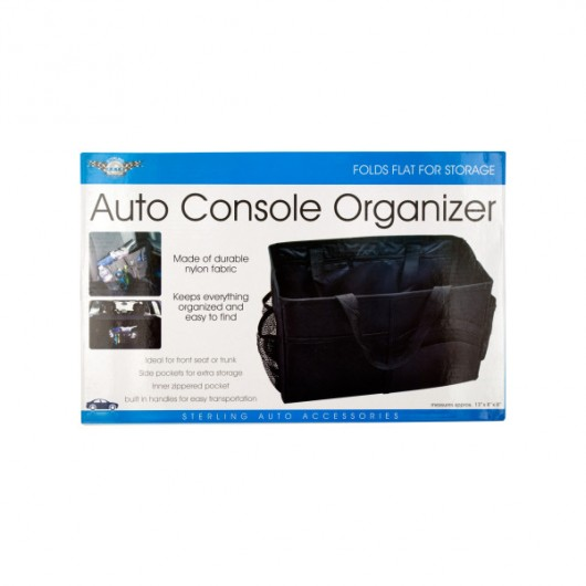 Auto Console Organizer with Multiple Pockets