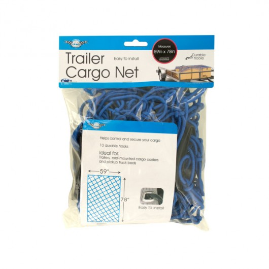 Trailer Cargo Net with Hooks