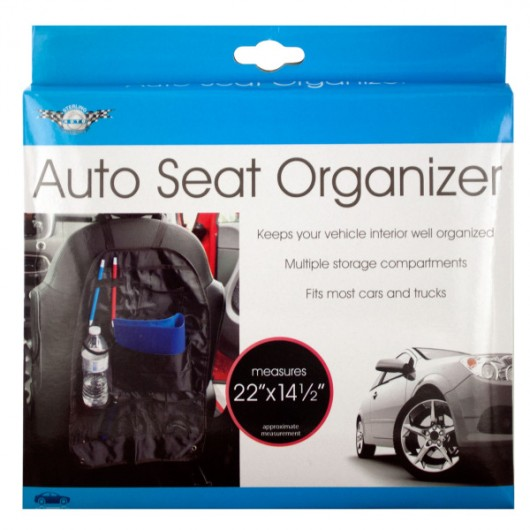 Auto Seat Organizer with Multiple Compartments
