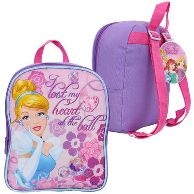 Cinderella Backpack with Front Pocket - 10""