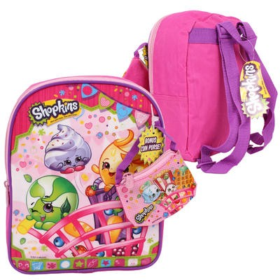 Shopkins Mini Backpack with Coin Bag