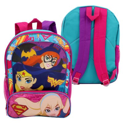 """Super Hero Girls Backpack with 2 Front Pockets-16"""""""