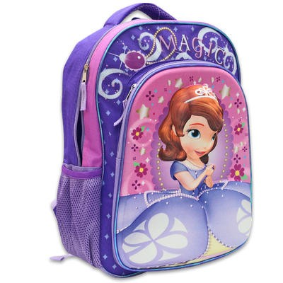 """Disney Sofia the First 3D Backpack - 15.5"""""""