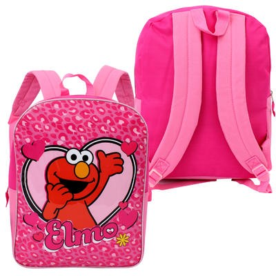 Girls' Sesame Street Elmo Backpack - Pink  15""