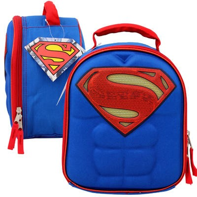 """Superman Chest Shaped Lunch Bag - 10""""H"""