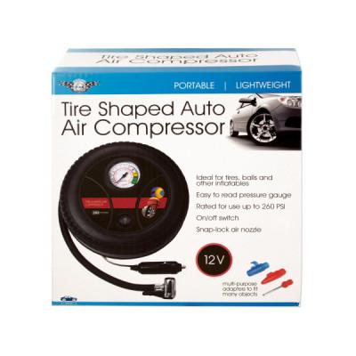 Portable Tire-Shaped Auto Air Compressor